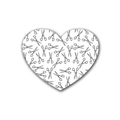 Scissors Pattern Rubber Coaster (heart)