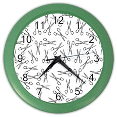 Scissors Pattern Color Wall Clock