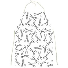 Scissors Pattern Full Print Aprons