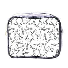 Scissors Pattern Mini Toiletries Bags