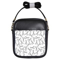 Scissors Pattern Girls Sling Bags