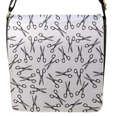 Scissors Pattern Flap Messenger Bag (s)