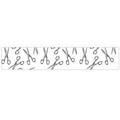 Scissors Pattern Large Flano Scarf