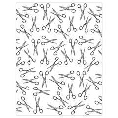 Scissors Pattern Drawstring Bag (large)