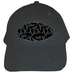 Scissors Pattern Black Cap