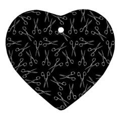 Scissors Pattern Ornament (heart)