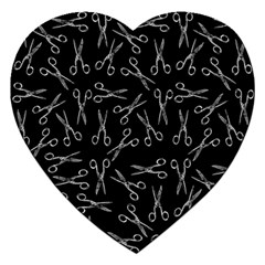 Scissors Pattern Jigsaw Puzzle (heart)