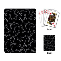 Scissors Pattern Playing Card