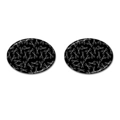 Scissors Pattern Cufflinks (oval)