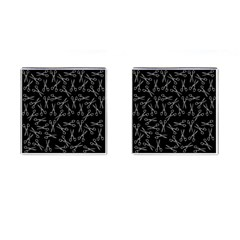 Scissors Pattern Cufflinks (square)