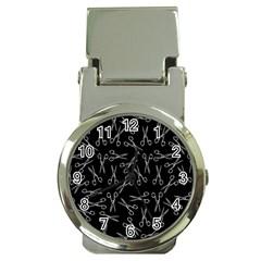Scissors Pattern Money Clip Watches