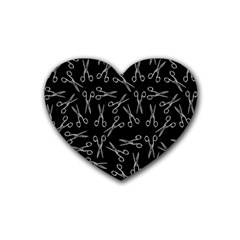 Scissors Pattern Heart Coaster (4 Pack)