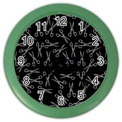 Scissors Pattern Color Wall Clock