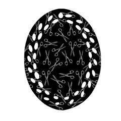 Scissors Pattern Ornament (oval Filigree)