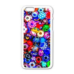 Colorful Beads Apple Iphone 6/6s White Enamel Case