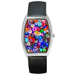 Colorful Beads Barrel Style Metal Watch