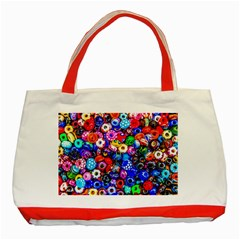 Colorful Beads Classic Tote Bag (red)