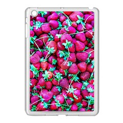 Pile Of Red Strawberries Apple Ipad Mini Case (white) by FunnyCow