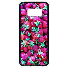 Pile Of Red Strawberries Samsung Galaxy S8 Black Seamless Case by FunnyCow