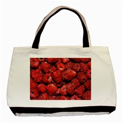 Red Raspberries Basic Tote Bag by FunnyCow