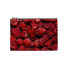 Red Raspberries Cosmetic Bag (medium)