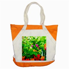 Bleeding Heart Flowers In Spring Accent Tote Bag by FunnyCow