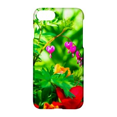 Bleeding Heart Flowers In Spring Apple Iphone 7 Hardshell Case by FunnyCow