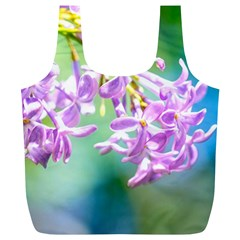 Beautiful Pink Lilac Flowers Full Print Recycle Bags (l)