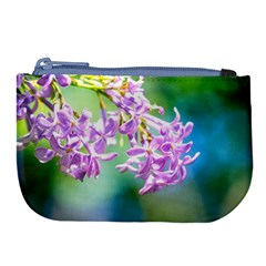 Beautiful Pink Lilac Flowers Large Coin Purse by FunnyCow