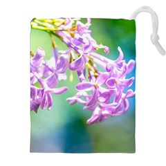 Beautiful Pink Lilac Flowers Drawstring Pouches (xxl)