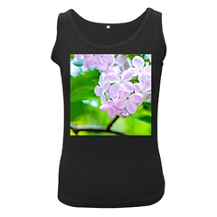 Elegant Pink Lilacs In Spring Women s Black Tank Top