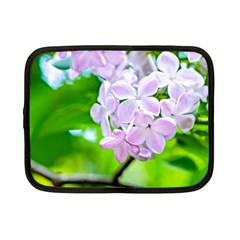Elegant Pink Lilacs In Spring Netbook Case (small)  by FunnyCow