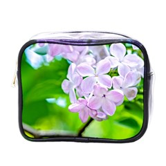 Elegant Pink Lilacs In Spring Mini Toiletries Bags by FunnyCow