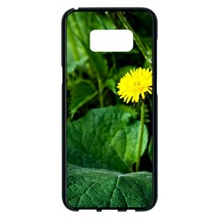 Yellow Dandelion Flowers In Spring Samsung Galaxy S8 Plus Black Seamless Case by FunnyCow