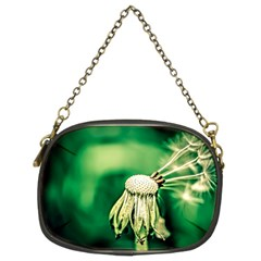 Dandelion Flower Green Chief Chain Purses (two Sides)