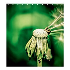 Dandelion Flower Green Chief Shower Curtain 66  X 72  (large)  by FunnyCow
