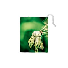 Dandelion Flower Green Chief Drawstring Pouches (xs)  by FunnyCow