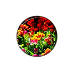 Colorful Tulips On A Sunny Day Hat Clip Ball Marker (10 Pack) by FunnyCow