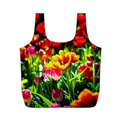 Colorful Tulips On A Sunny Day Full Print Recycle Bags (m)