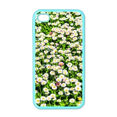 Green Field Of White Daisy Flowers Apple Iphone 4 Case (color) by FunnyCow
