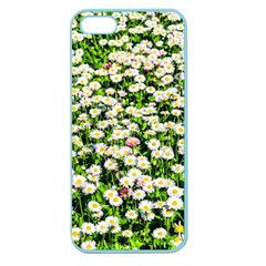 Green Field Of White Daisy Flowers Apple Seamless Iphone 5 Case (color) by FunnyCow