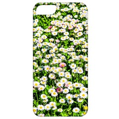 Green Field Of White Daisy Flowers Apple Iphone 5 Classic Hardshell Case by FunnyCow