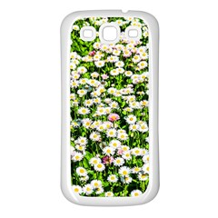 Green Field Of White Daisy Flowers Samsung Galaxy S3 Back Case (white)