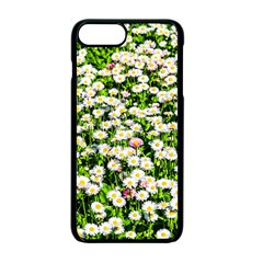 Green Field Of White Daisy Flowers Apple Iphone 7 Plus Seamless Case (black) by FunnyCow