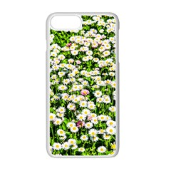 Green Field Of White Daisy Flowers Apple Iphone 7 Plus Seamless Case (white) by FunnyCow