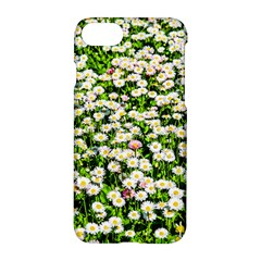 Green Field Of White Daisy Flowers Apple Iphone 8 Hardshell Case by FunnyCow