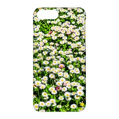 Green Field Of White Daisy Flowers Apple Iphone 8 Plus Hardshell Case by FunnyCow