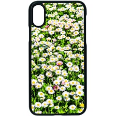 Green Field Of White Daisy Flowers Apple Iphone X Seamless Case (black) by FunnyCow
