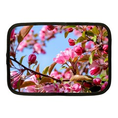 Crab Apple Blossoms Netbook Case (medium)