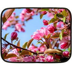 Crab Apple Blossoms Fleece Blanket (mini) by FunnyCow